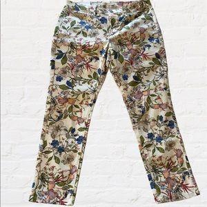 NWT j. jill Authentic Fit Slim-Leg Floral Jeans 6P